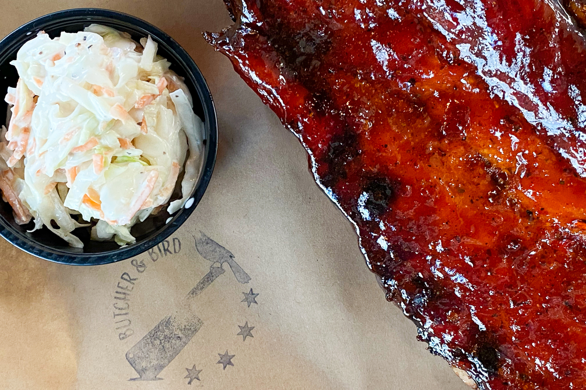 BBQ and coleslaw