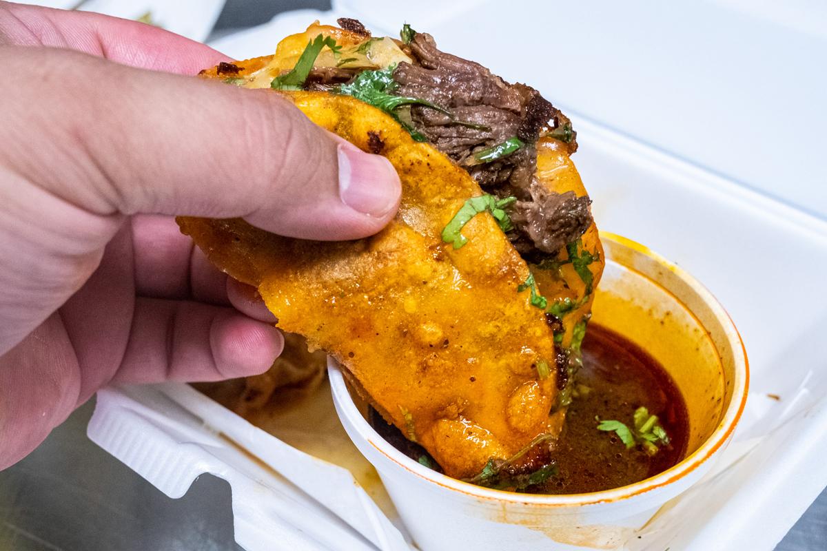 Dipping La Birria Taco