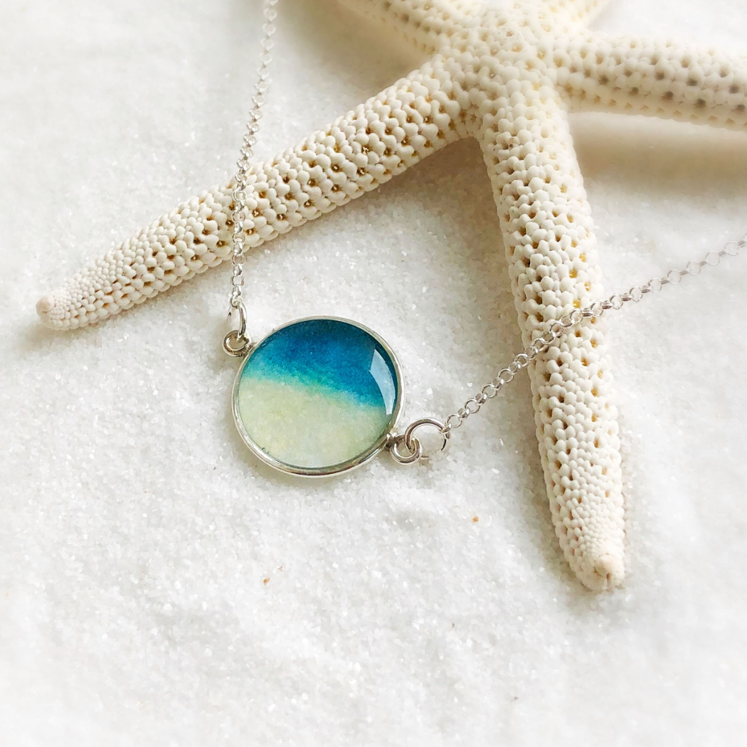 Rise With The Tide Mini Necklace Foterra Jewelry