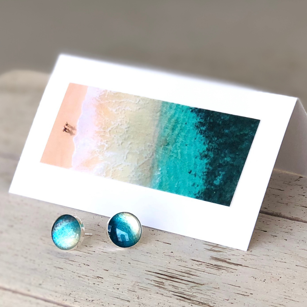 Rise With The Tide Post Earrings Foterra Jewelry