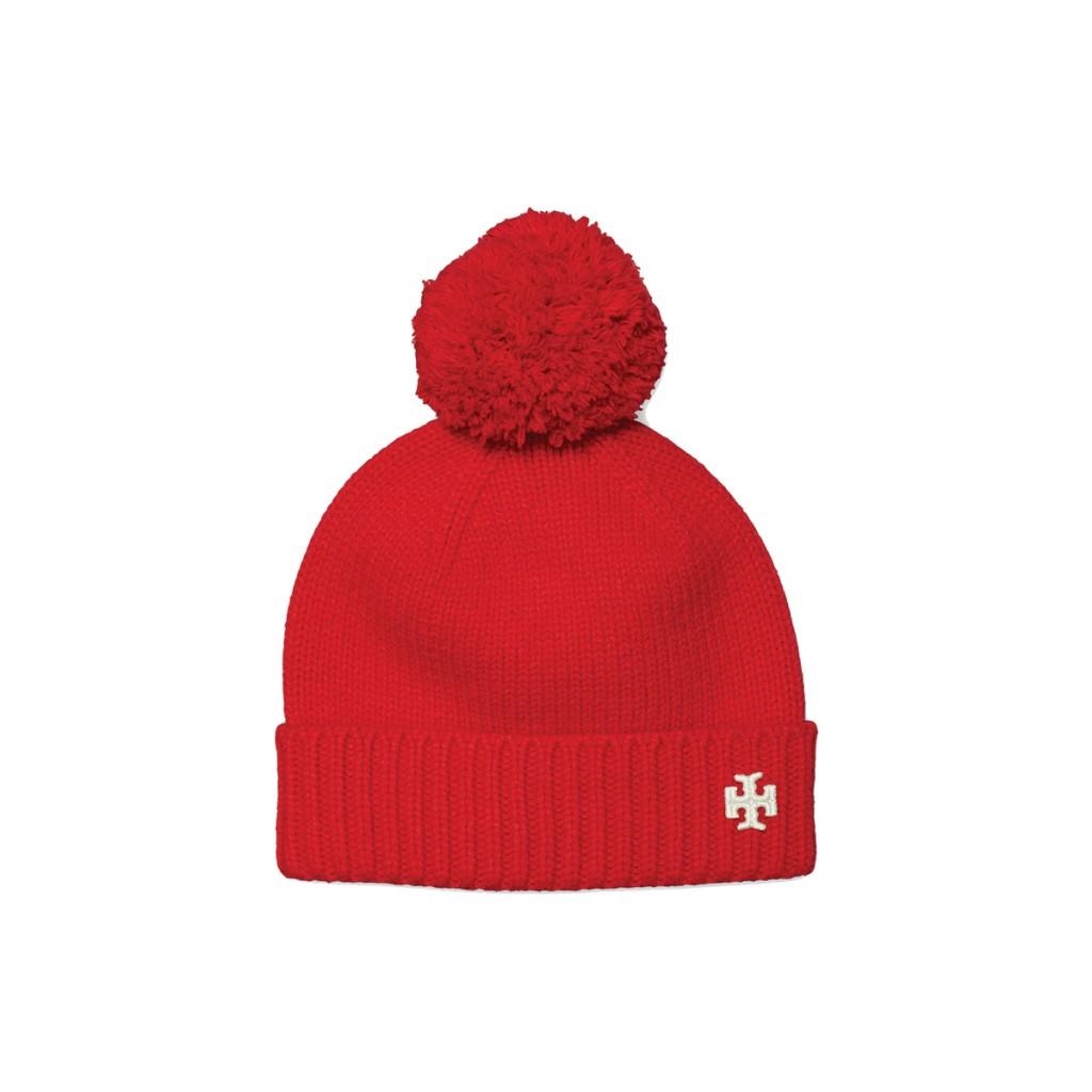 Ts Merino Pom Pom Hat 73812 In Gala Red $128