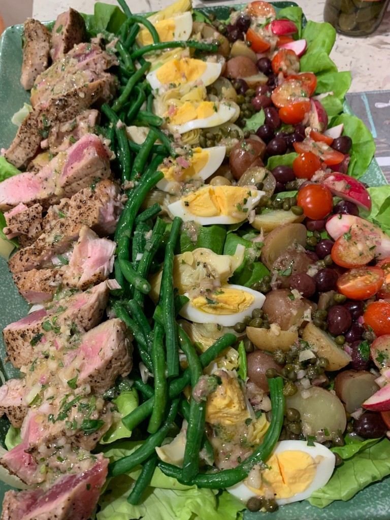 Nicoise Salad Seared Ahi Anchovy Vinaigrette