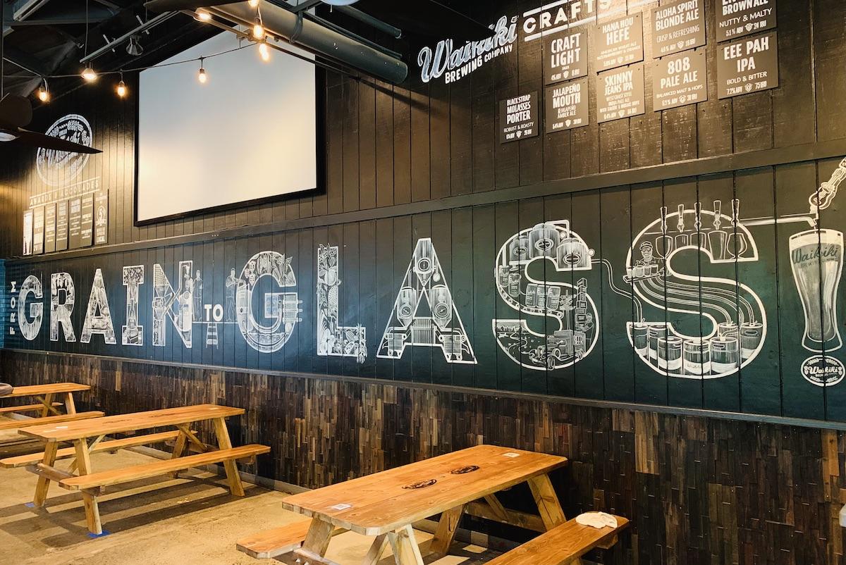 Sign grain to glass chalkboard mural