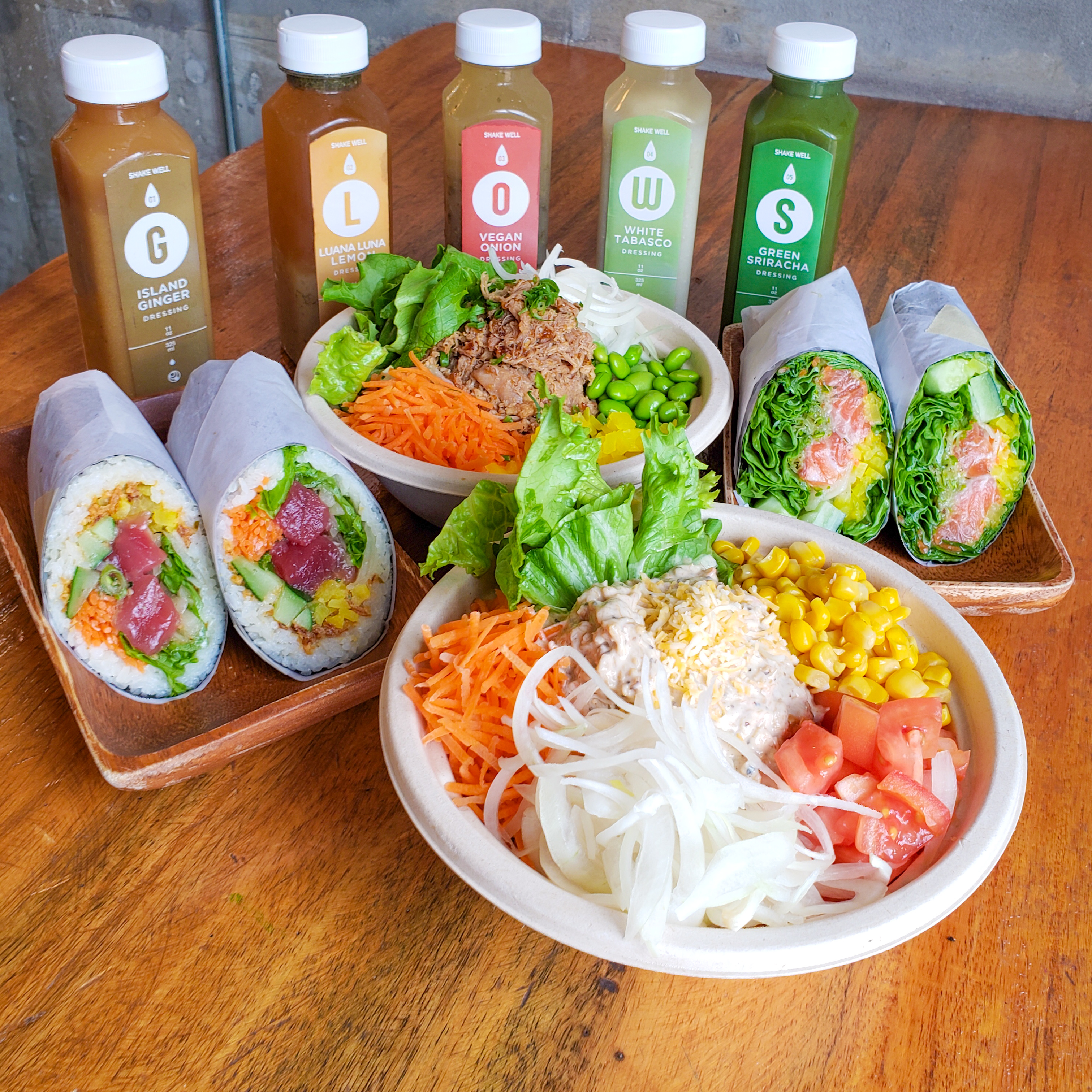 Up Roll Cafe Kailua Rolls Bowls