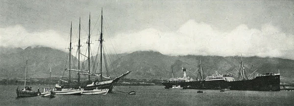 From Our Files 1921 Ships Honolulu Harbor