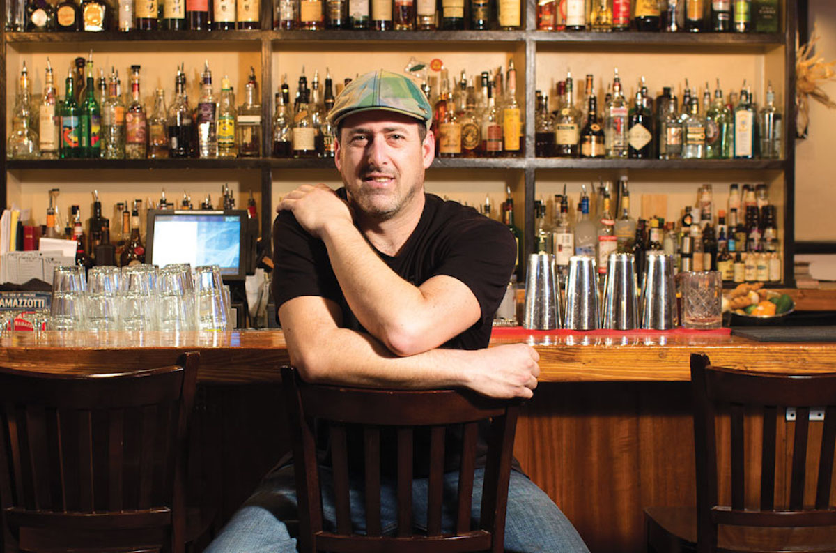 pint and jigger co-owner dave newman at the bar in the original location