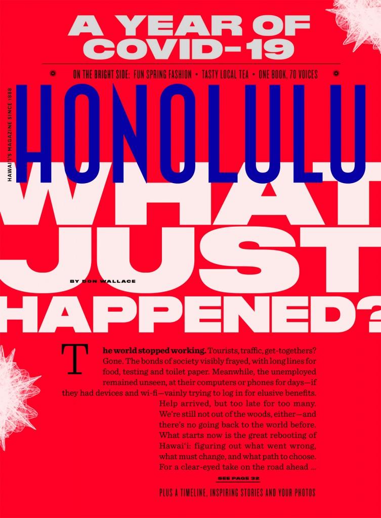 Honolulu Magazine cover March 2021