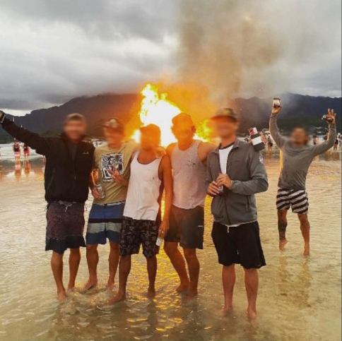 Kaneohe Sandbar Tree Burning 5 576x1024 New