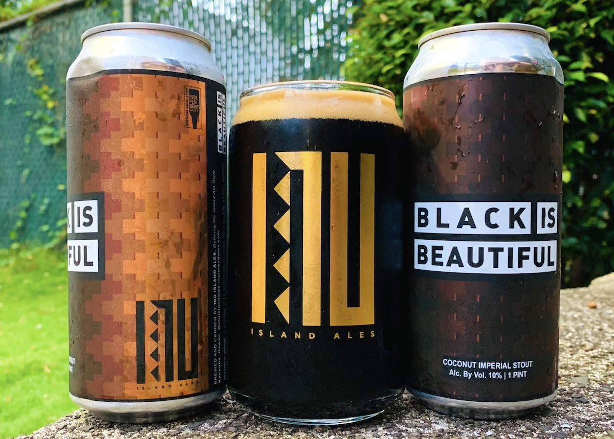cans of Inu island ale beers include the black is beautiful label