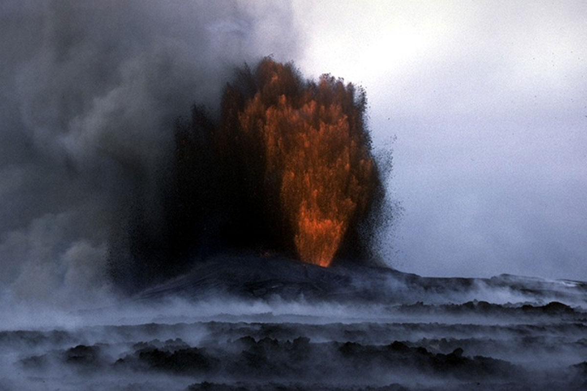 Kilauea Lava Fountain Puu Oo March 13 1985 Usgs