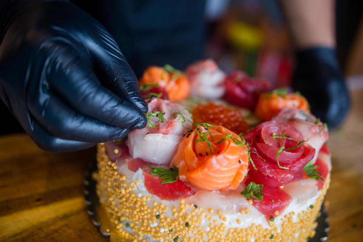 aloha cones sushi cake toppings