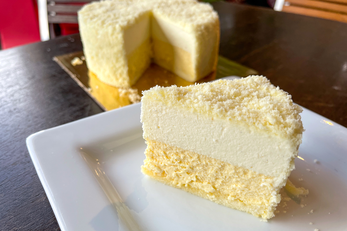 Beyond Pastry Studio Epicurean Cheesecake with lilikoi layer