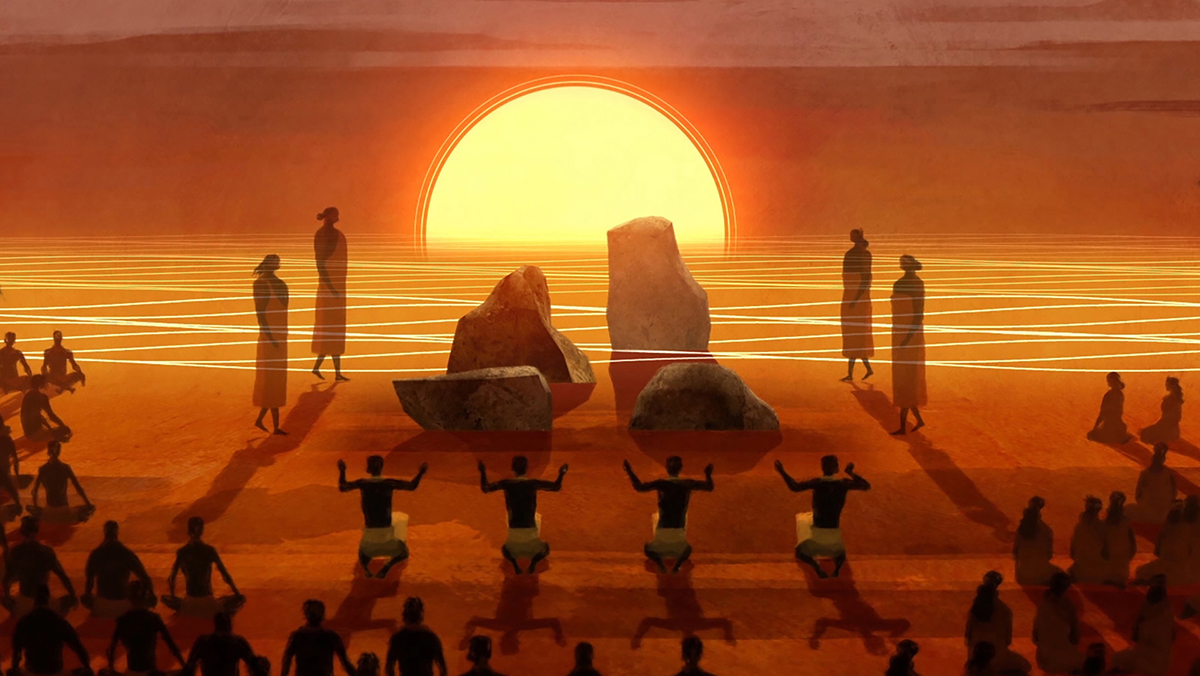 Hn 2105 Calabash Films Kapaemahu 3 Art By Daniel Sousa Courtesy Of Kanaka Pakipika