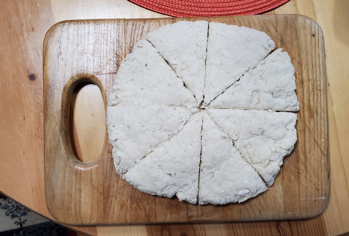 Lavender Scone Dough
