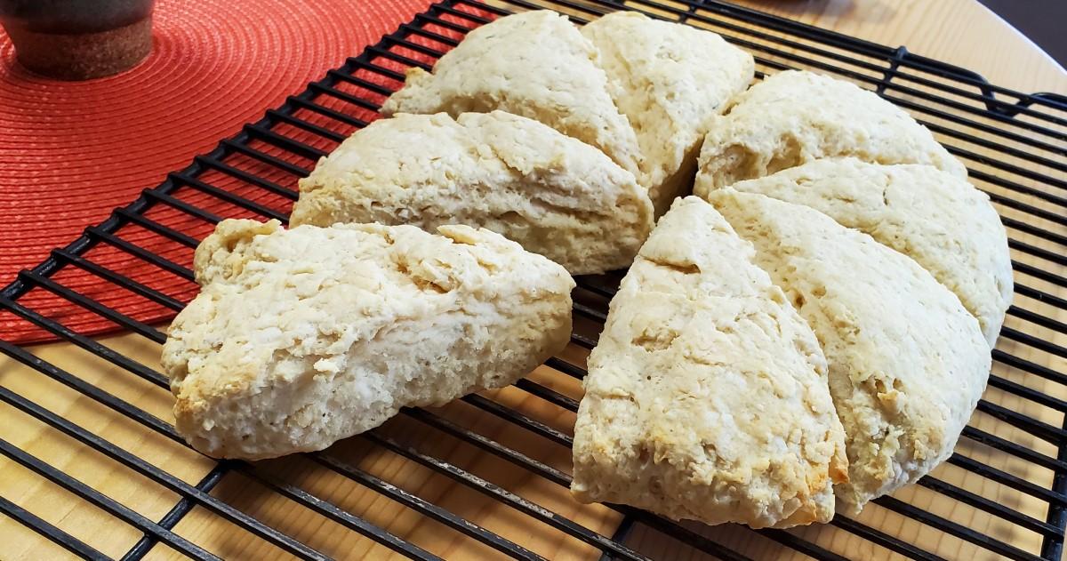 Lavender Scones Baked