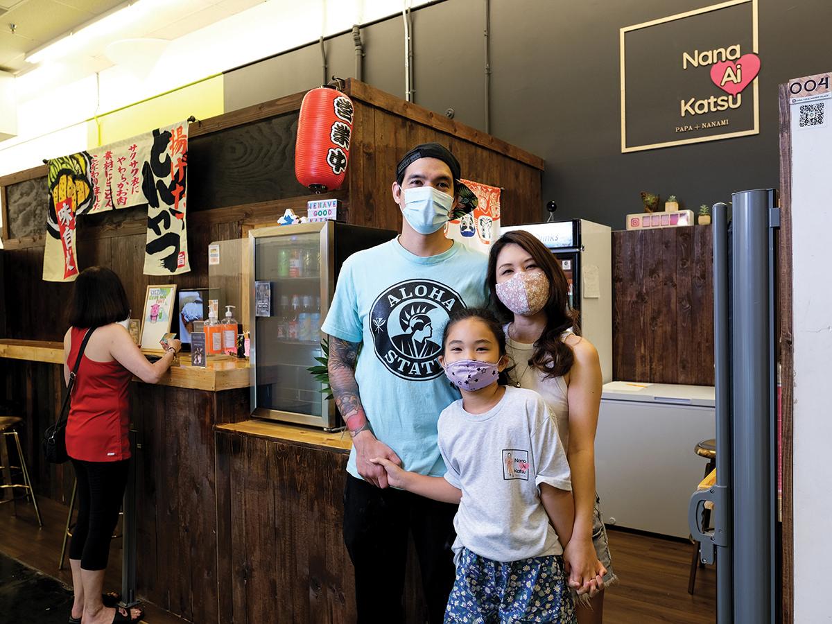 Nana Ai Katsu Owners Michael And Lei Anne Jones With Their Daughter Nanami