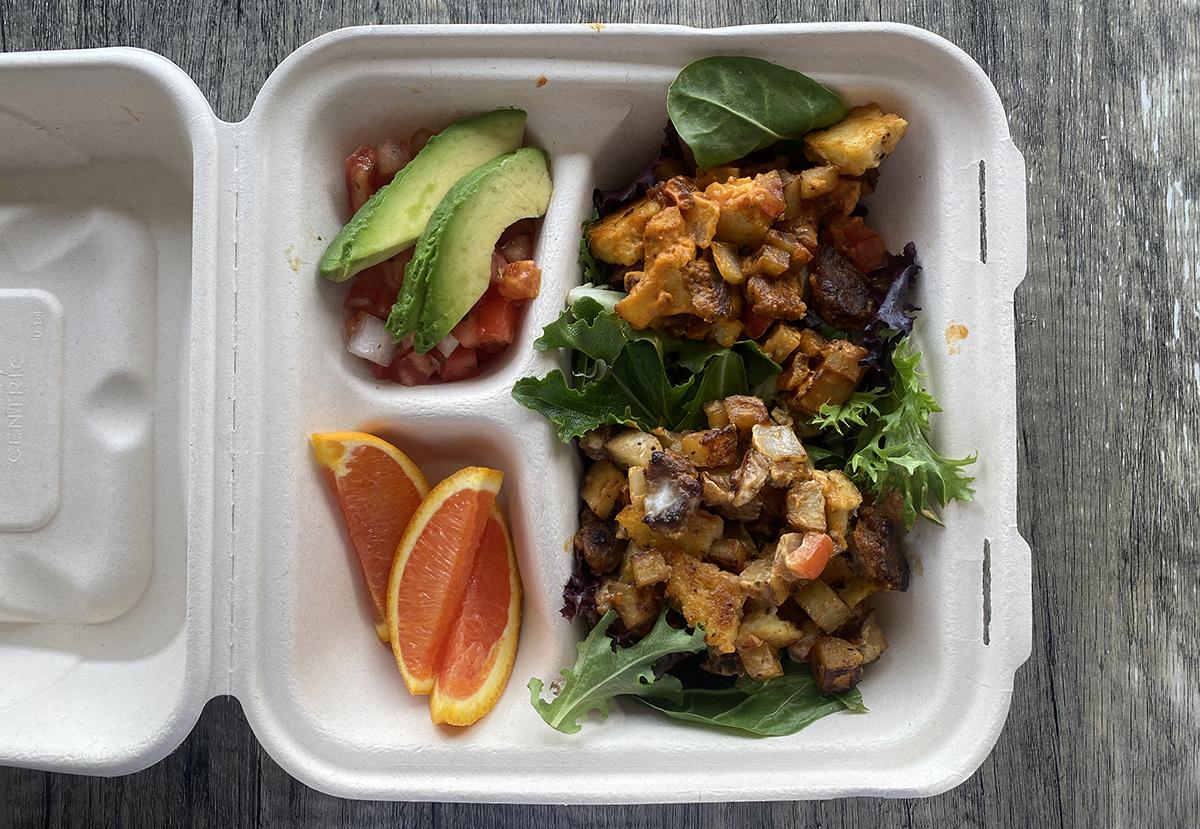 blondies vegan food truck Early Bird Breakfast Bowl