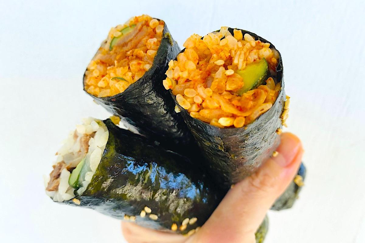 mini Korean Sushi Rolls at palama supermarket