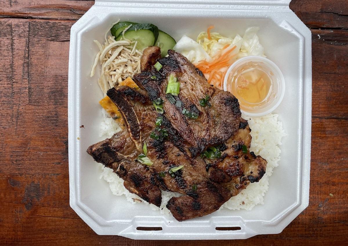 Broken Rice Pork Chop