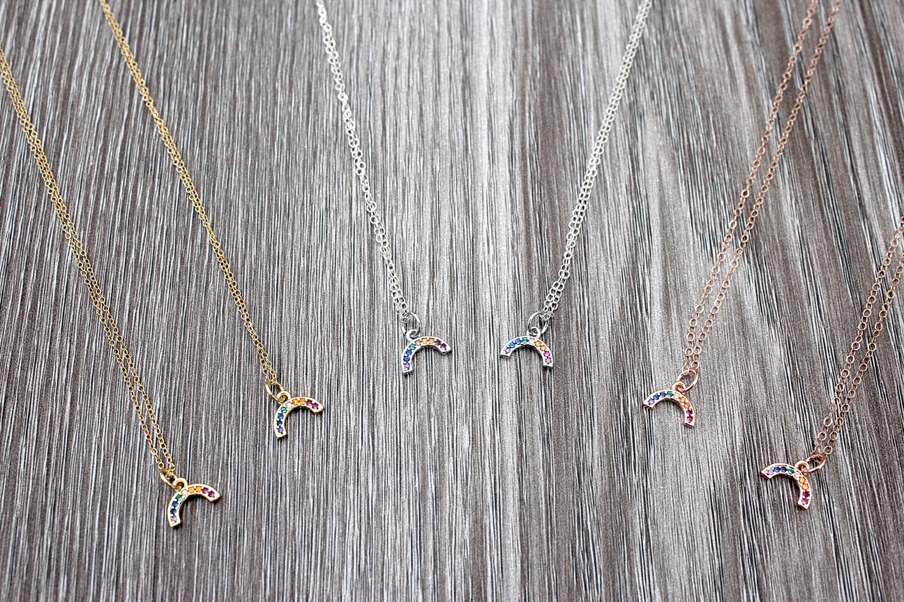 Rainbow Charm Necklaces 2