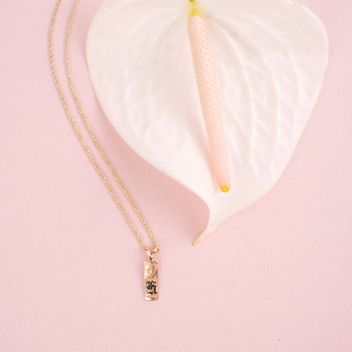 Paradise Collection 14k Gold Initial Pendant