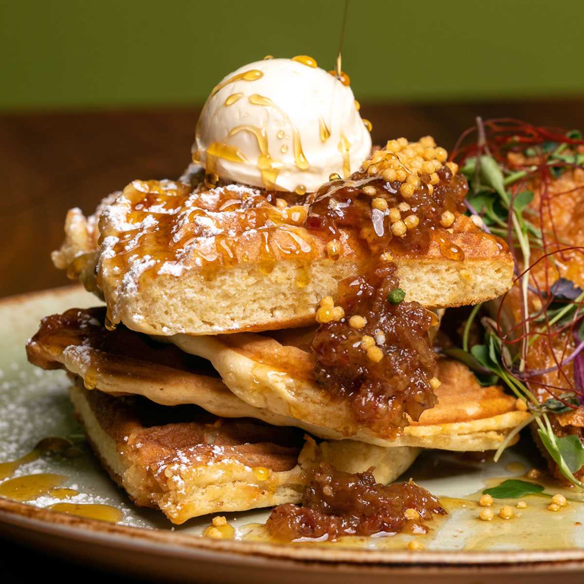1200 Eating House 1849 Chicken And Waffles Courtesy Of Eating House
