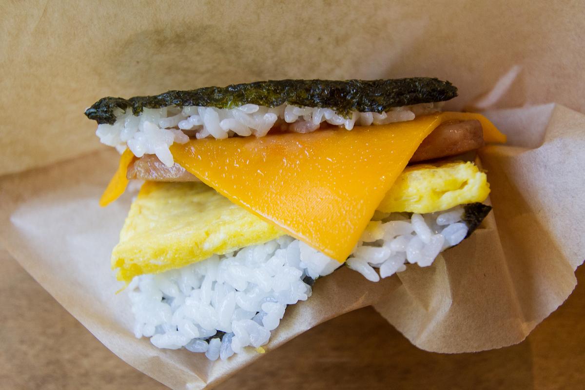 Cheese Ketchup potama spam musubi