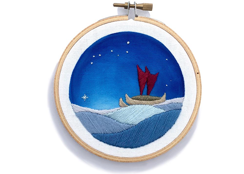 Embroidery Hawaii Sailing Ship