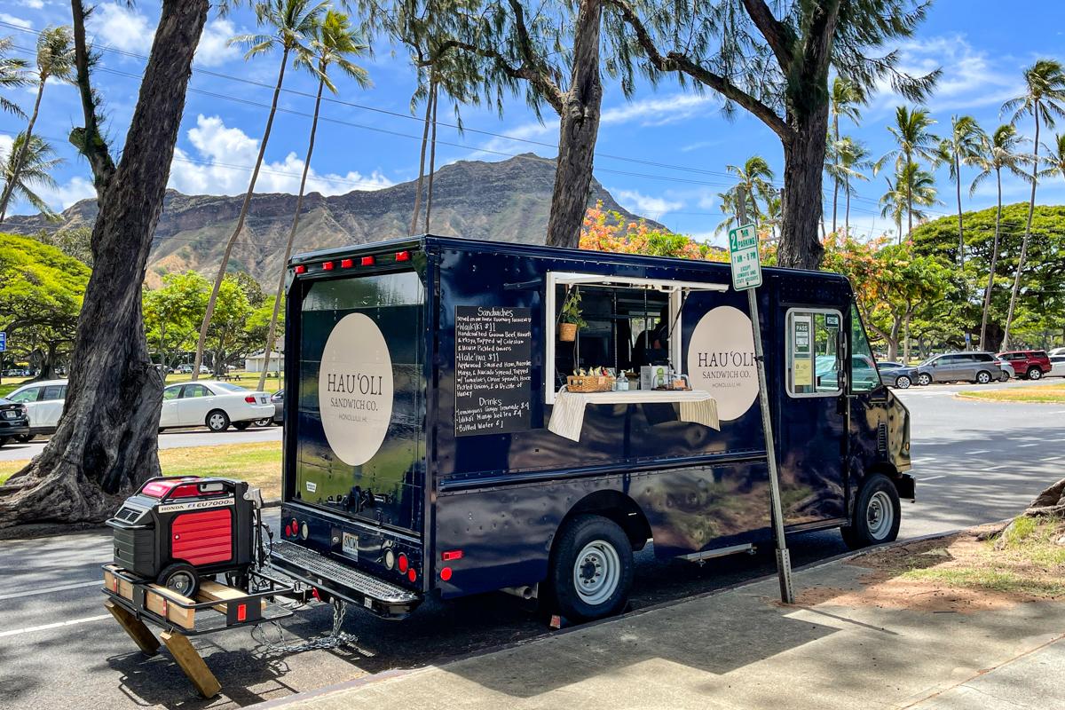 Hauoli Sandwich Truck parked by Diamond Head Credit Thomas Obungen