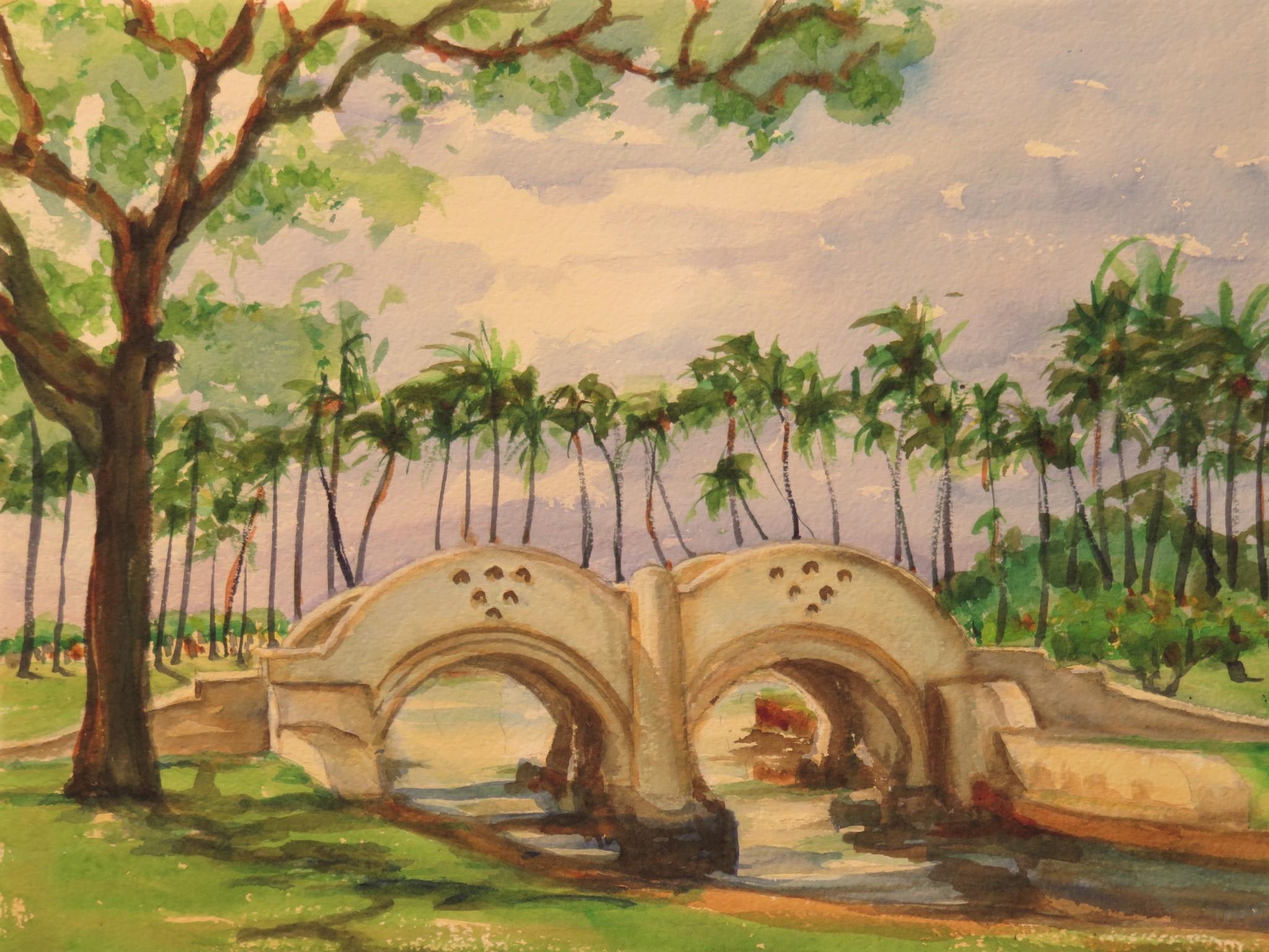 Flora Ling Bridle Path Bridge In Ala Moana Park 2020 Courtesy Historic Hawaii Foundation