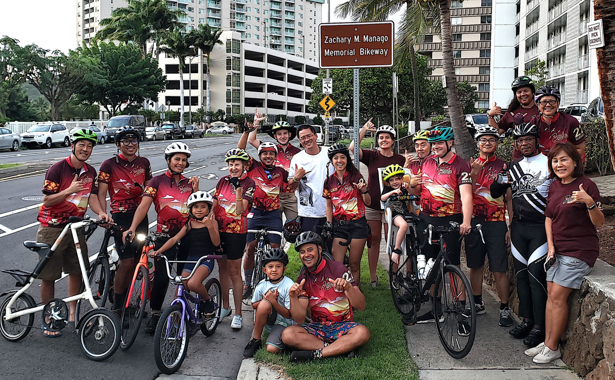 Zachary Manago Ride In Paradise Photo Hawaii Bicycling League