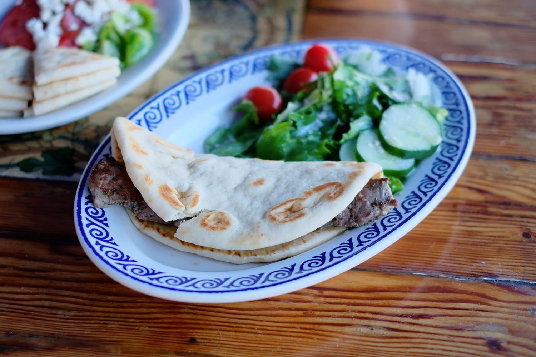 Olive Tree Cafe Lamb Souvlaki
