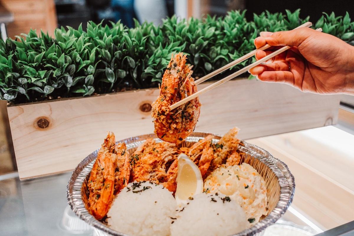 Paradise Poke Garlic Shrimp Courtesy Paradise Poke