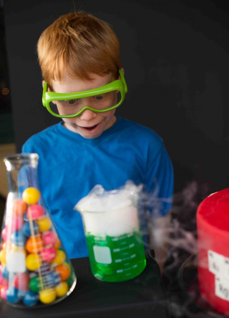 Make It Science Party Dry Ice Boy And Beaker Photo Karen Db Photography