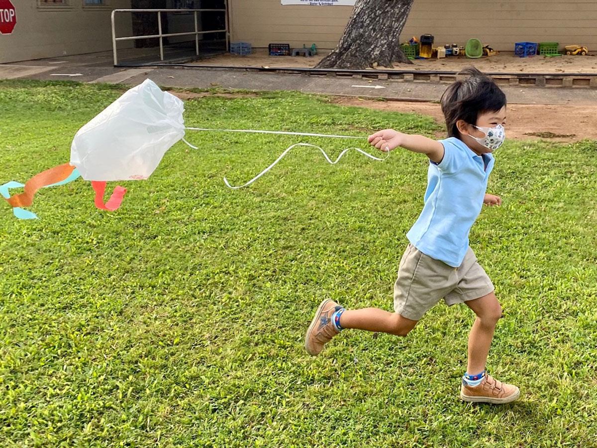Child Flying Kite Photo Holy Nativity School
