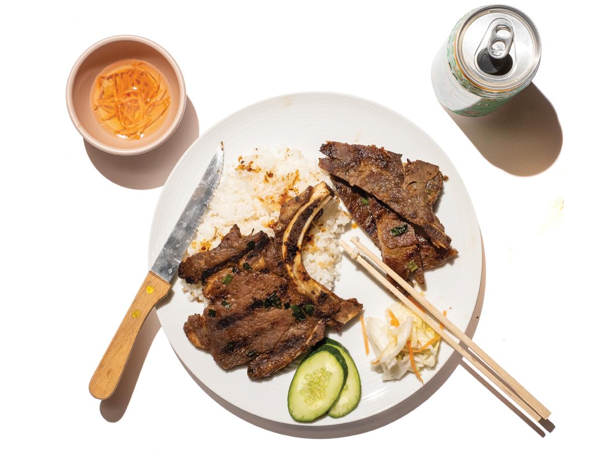 Broken Rice Lemon Grass Pork Chop