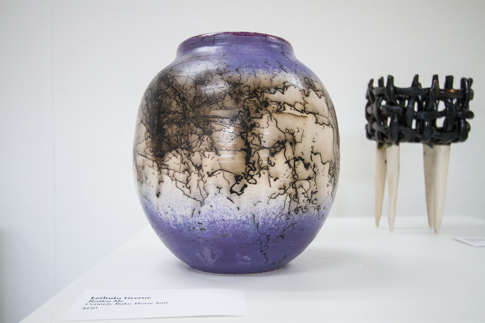 Things To Do This Weekend July 15 21 Restless Me Ceramic Raku Horsehair By Leihulu Greene Photo Courtesy Tracy Chan Downtown Art Center
