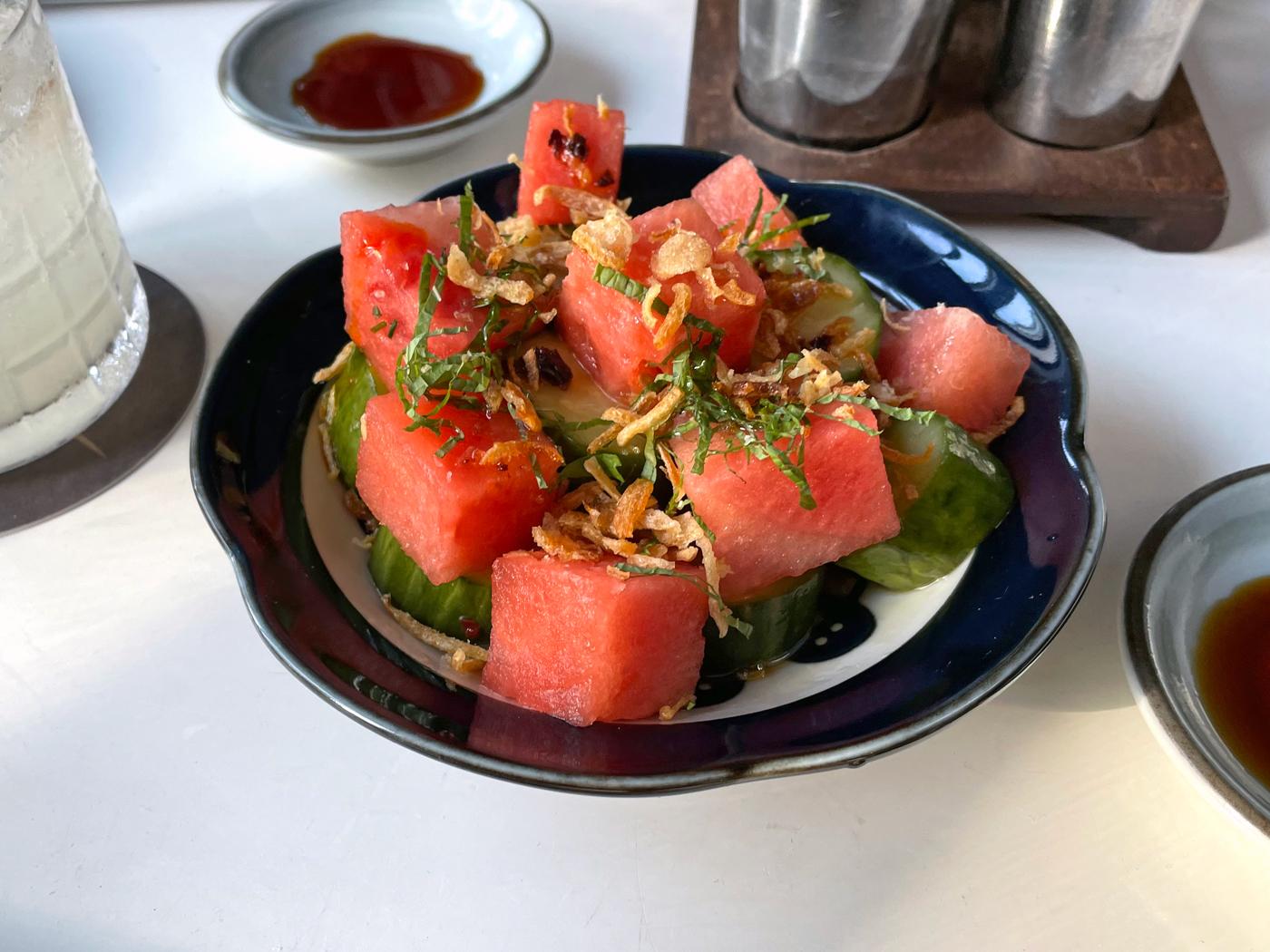 Stripsteak Watermelon Cucumber Salad