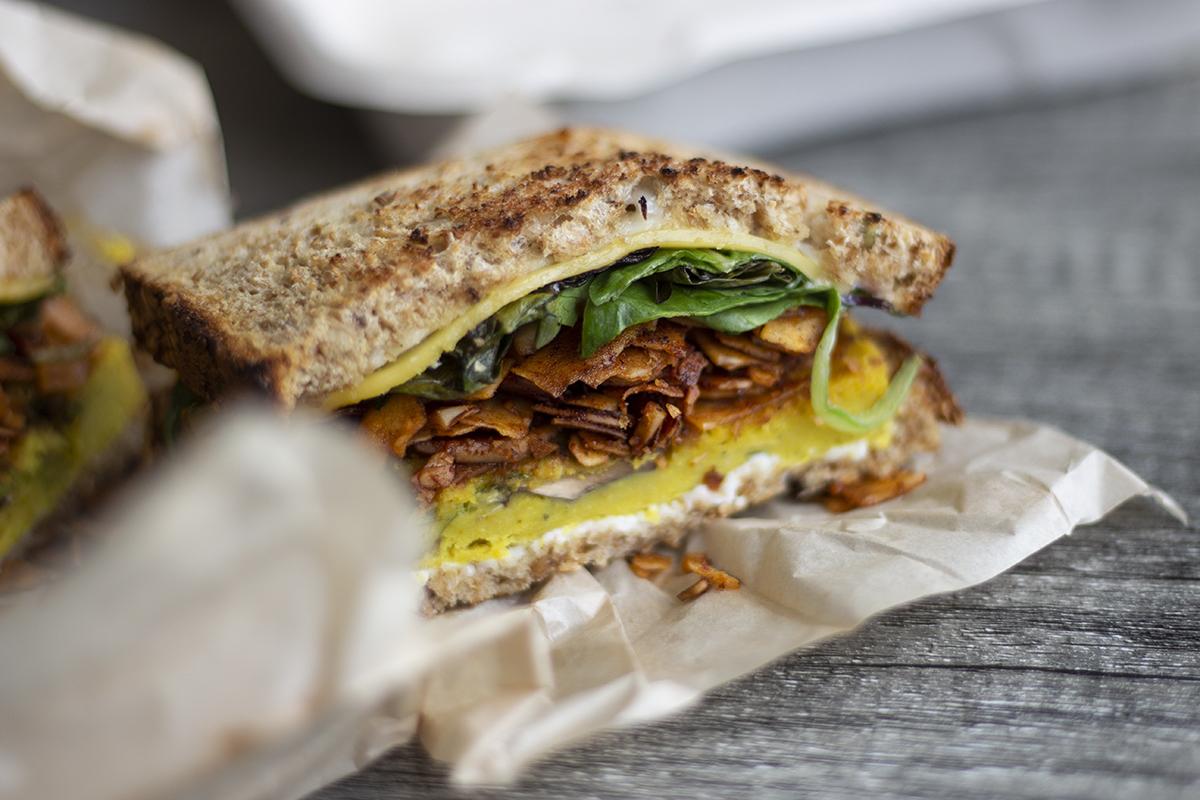 Olena Cafe Breakfast Sandwich James Nakamura