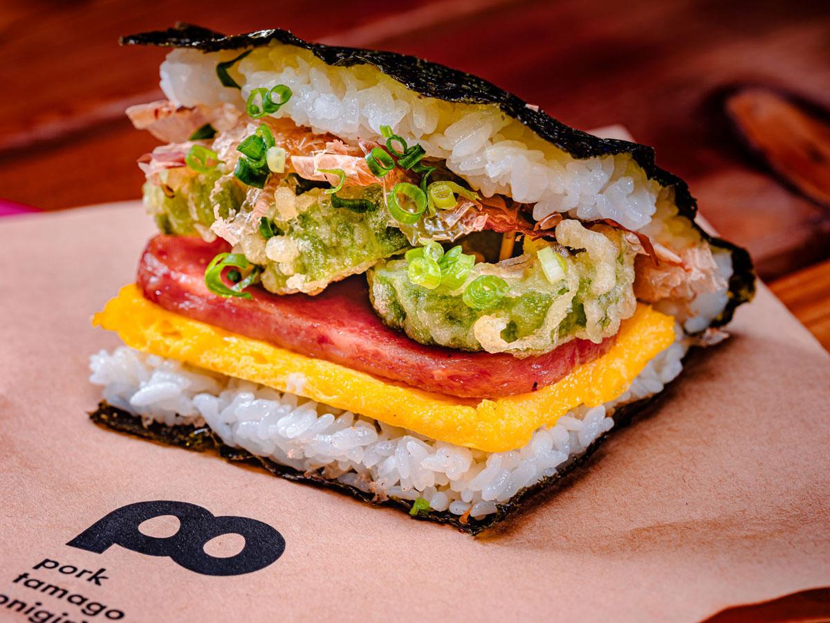 Pork Tamago Onigiri Okinawan Feastival 2021 Photo Potama