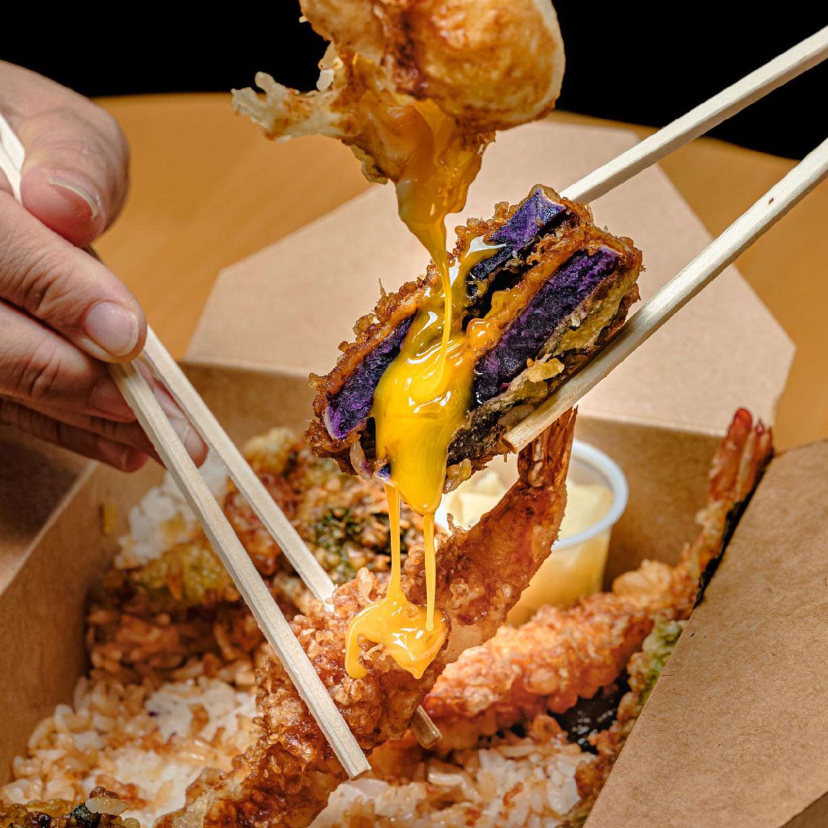 Azasus Sweet Potato Tempura Egg Okinawan Feastival 2021