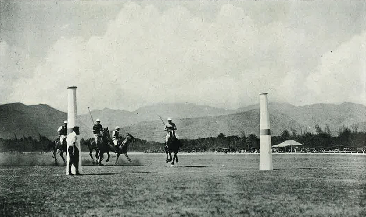 Polo Players Playing 1921 Paradise Of Pacific